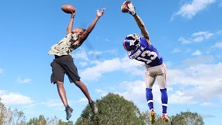 ODELL BECKHAM ONE HANDED CATCH CHALLENGE!