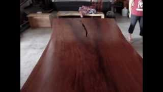 Dining Table Custom Made Soild Slab Thai Rosewood Reclaimed Wood