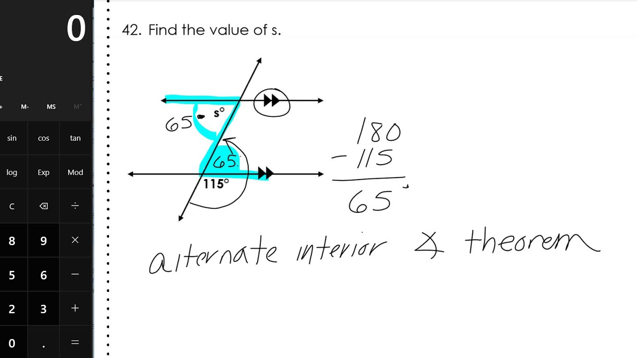 Geometry EOC Full Year Review Packet - FHS page 9 - YouTube
