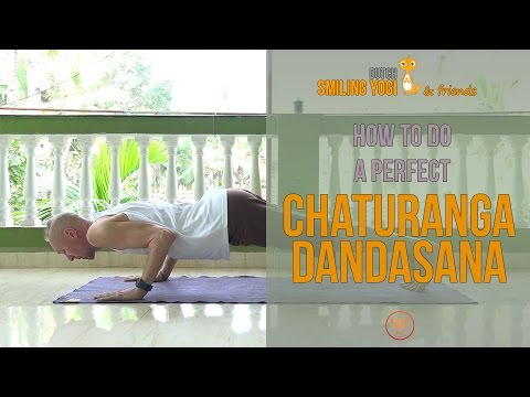 How to do a perfect Chaturanga Dandasana in yoga (4 limbed staff pose / low plank)
