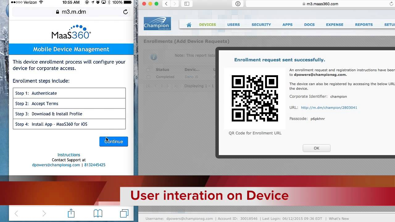 MaaS360-Device enrollment via Adhoc
