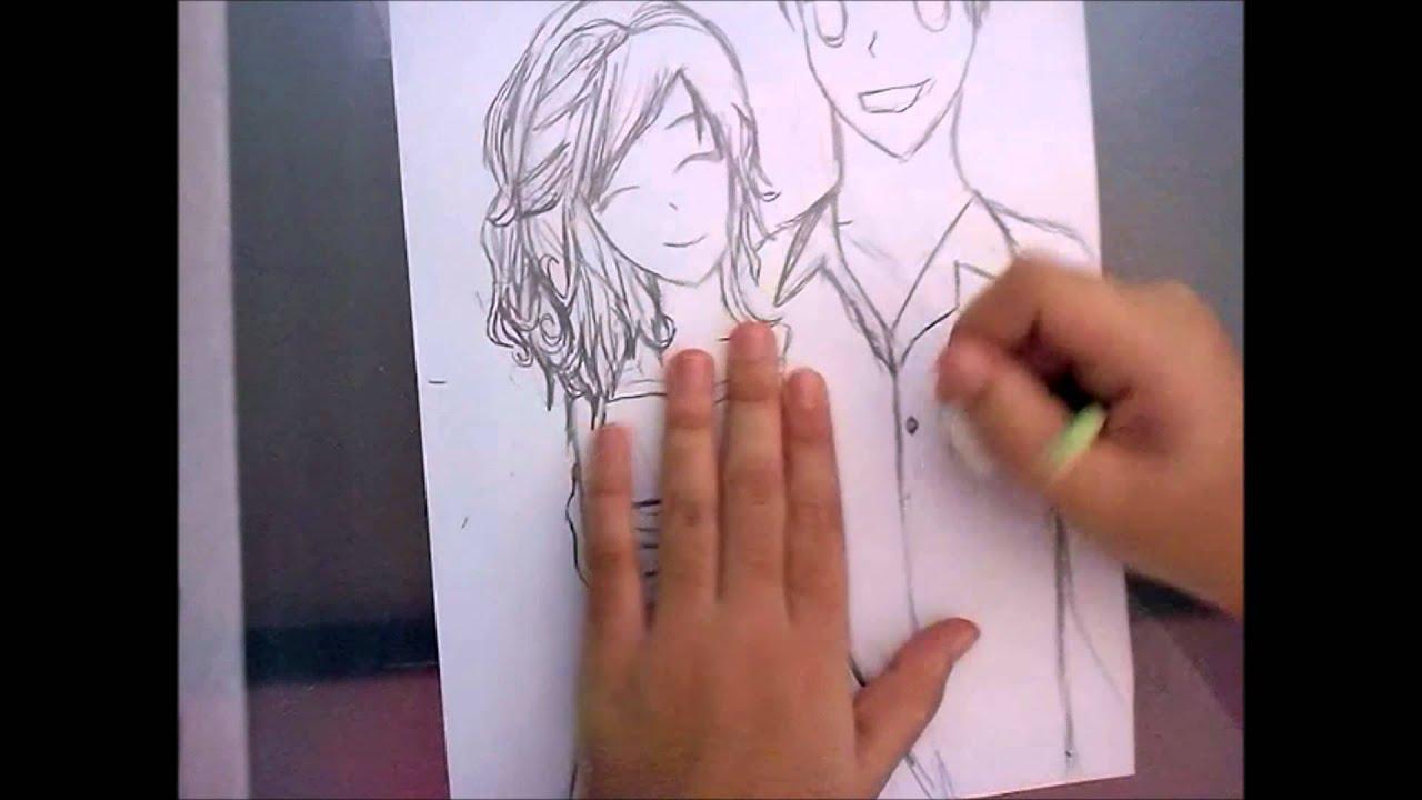 Desenhos De Amor Para Namorado: Como Desenhar... Casal De Namorados Em Mangá!