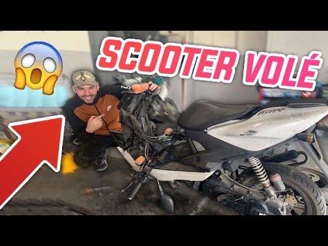 TENTATIVE DE VOL D'UN SCOOTER 50cc !! 1 AN SANS ROULER , ON CONSTATE LES DÉGÂTS...