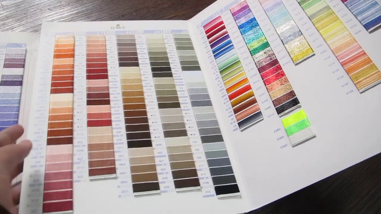 photograph about Dmc Floss Color Chart Printable known as Dmc Shade Card