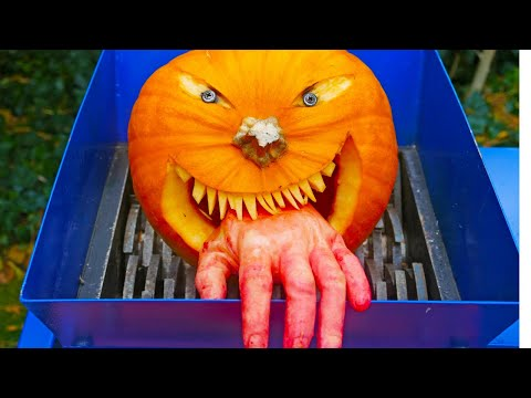 SHREDDING HALLOWEEN PUMPKIN
