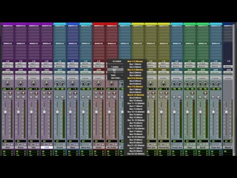 Getting Started With Pro Tools (Part 2)- Understanding Busses and Aux Sends