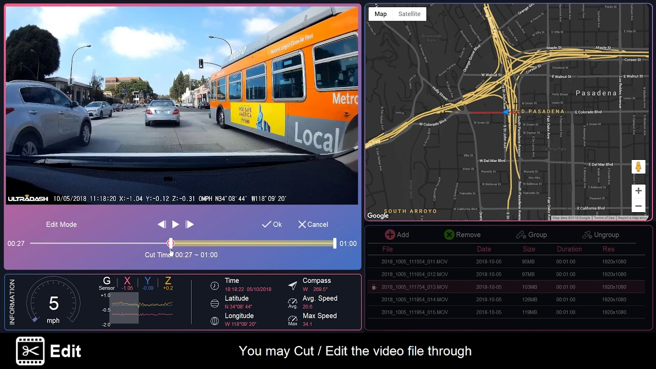 iQ Dash Cam Player – Cansonic Dash Cam