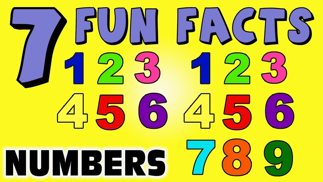 7 FUN FACTS ABOUT NUMBERS! FACTS FOR KIDS! Math! Cool Facts ...