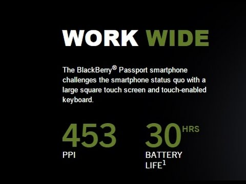 Blackberry Passport 'Work Wide' review