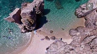 Ο ανέγγιχτος παράδεισος της Χαλκιδικής - Στα σύνορα του Αγίου Όρους |  Greece Drone