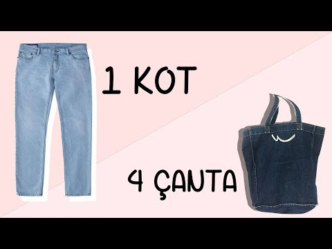 832c324845d12 Eski Kot Pantolondan 4 Adet Çanta | 4 Bags Out Of 1 Jean | DIY - YouTube