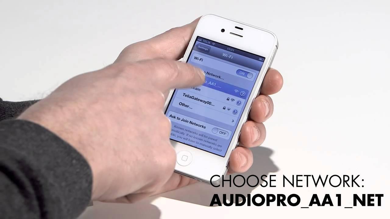 Wifi setup on Allroom Air One - using the Audio Pro App