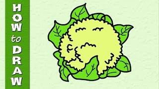 Kids Educational Series - How To Draw A  Cauliflower - Episode 28