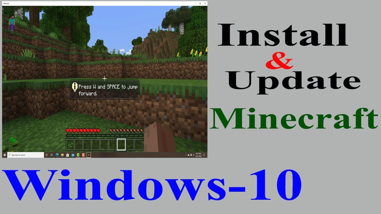 How to Install and Update Minecraft in Windows 11.