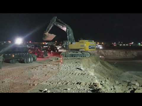 John Deere 870G Excavator at Raiders Stadium- Timeplase Video