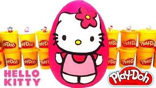 Hello Kitty Dev Sürpriz Yumurta Oyun Hamuru - Hello Kitty, MLP, LPS Oyuncakları