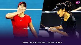 Bianca Andreescu vs. Hsieh Su-Wei | 2019 ASB Classic Semifinals | WTA Highlights