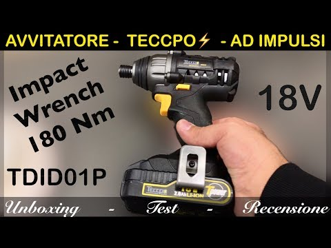 Impact wrench with IMPCPSI TECCPO ⚡️ .180 Nm. 18V 2A. Very powerful. TDID01P.