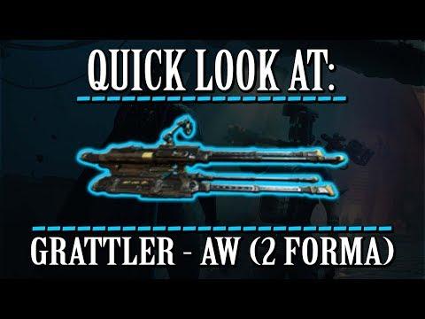 Warframe - Quick Look At: Grattler (2 Forma) thumbnail