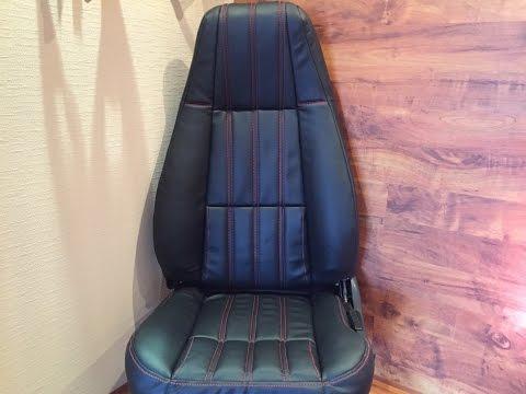 видео: Перетяжка сидений автомобиля. the car's interior in leather