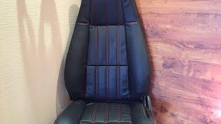 Перетяжка сидений автомобиля. The car's interior in leather(Перетягиваем салон автомобиля в кожзам. В этот раз мы использовали поролон для придания сидениям большего..., 2016-02-28T11:29:50.000Z)