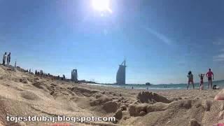 Sunset beach  - plaża przy Burj Al Arab - Dubaj