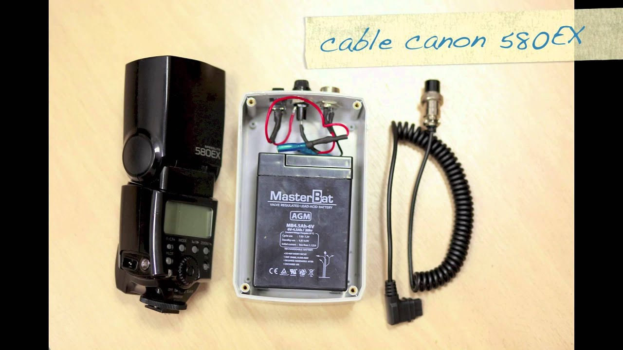 Canon 580EX battery external - YouTube