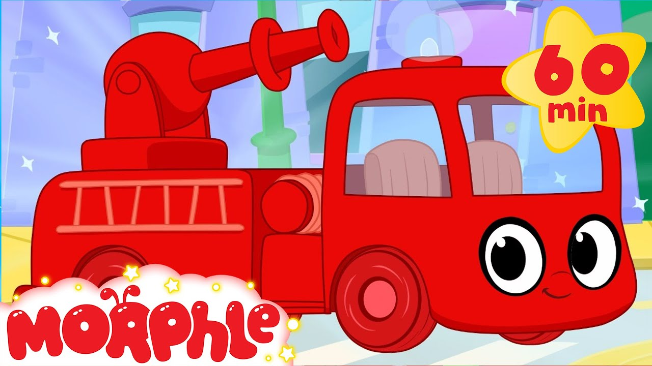 Fire truck adventures with morphle 1 hour my magic pet morphle vehicles kids videos compilation youtube