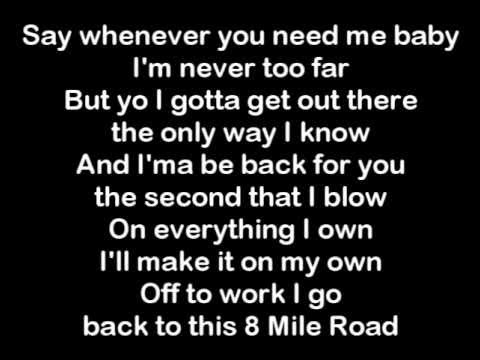 Eminem  8 Mile Lyrics
