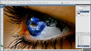 Фотошоп уроки - Как изменить цвет Глаз в фотошопе