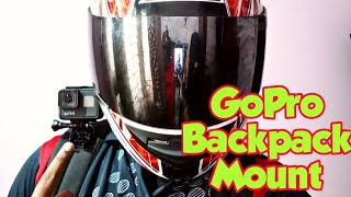 Gopro Mount on Backpack | Gopro Hero 7 in Action on Backpack Mount | Backpack mount for Gopro Camera