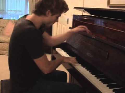 Tim Pocock playing piano