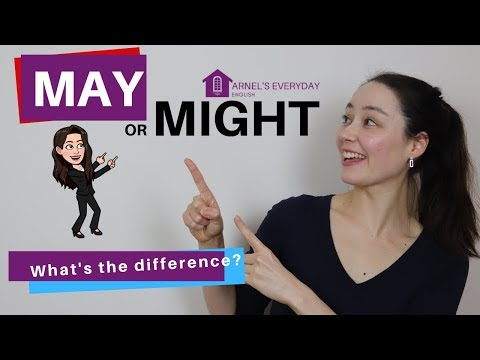 MAY and MIGHT - What's the difference? 5 simple steps