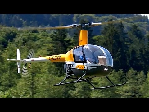 ROBINSON R-22 GIANT SCALE VARIO RC ELECTRIC MODEL HELICOPTER DEMO FLIGHT / Turbine Meeting 2015