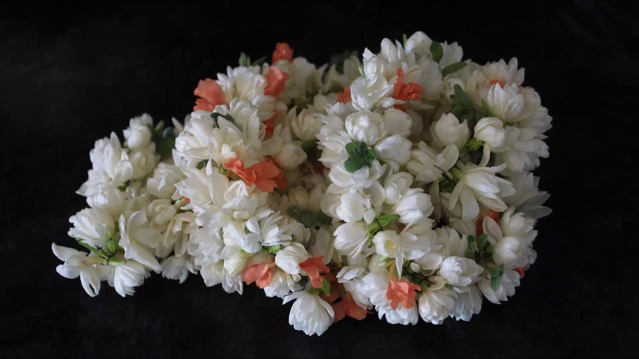 Jasmine Flower Garland By Srujanatv Youtube