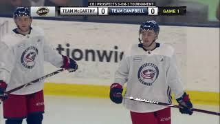 Liam Foudy 1-0 Goal (2018 Development Camp Game 1: Team McCarthy vs. Team Campbell)