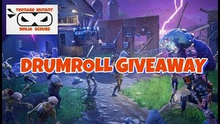 FORTNITE, SAVE THE WORLD - DRUMROLL GIVEAWAY DETAILS - TUNE IN TO WIN
