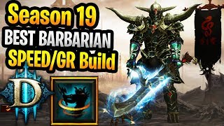 Season 19 Best Barbarian Whirlwind Build Speed T16 / Greater Rifts (From PTR Season 19) New Buffs