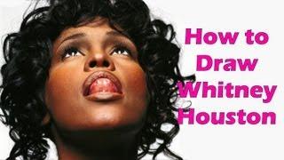 How to Draw Whitney Houston Step by Step