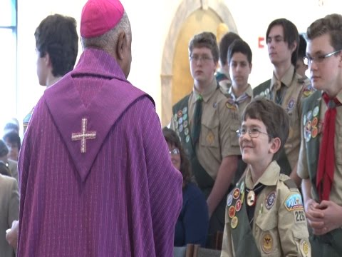 Archbishop Gregory Honors Scouts at Annual Mass