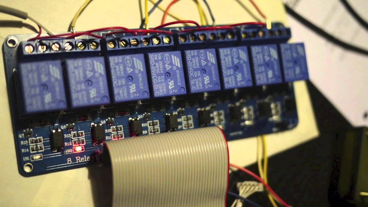 Stepper Motor Driver Made Of Relays YouTube - Electric relay invented