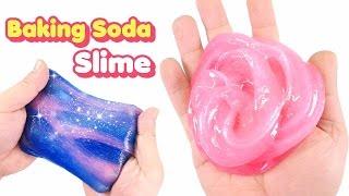 How To Make Baking Soda Slime ! Slime Safe for Kids | MonsterKids