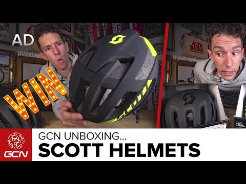Unboxing The Scott Cadence Plus & Centric Plus Helmets | GCN Unboxing