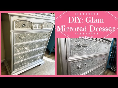 diy:-glam-mirrored-dresser-|-crushed-mirror-glass