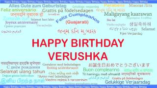 Verushka   Languages Idiomas - Happy Birthday