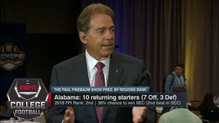 Nick Saban on Alabama quarterback competition | Paul Finebaum Show | ESPN
