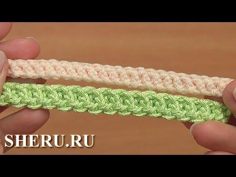 Как связать крючком браслет на руку