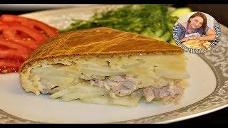 Ленивый Курник с Картошкой или Заливной пирог с Курицей и Картошкой. Вкуснятина.