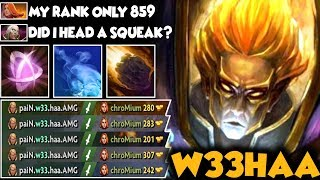 EPIC W33 Invoker Deleted Lina At Mid! Crazy Combos Skill | Easy 25mins Game - Dota 2 Invoker