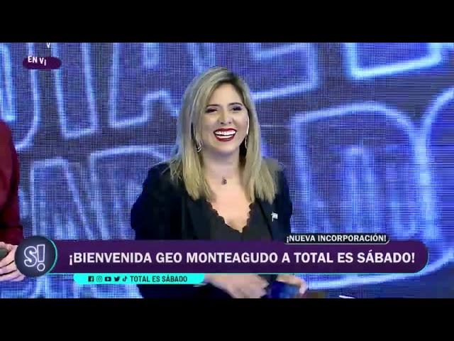 """Finalmente Geo Monteagudodebutó en """"Total es Sábado"""""""